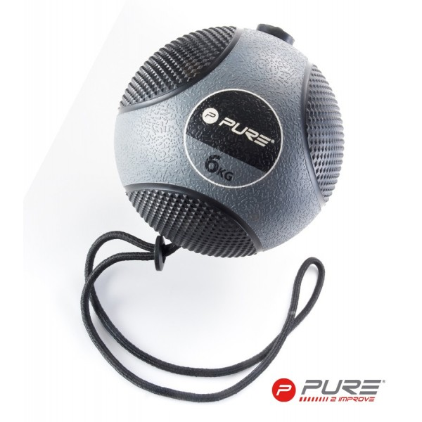 Medicine ball - 6kg (with rope)