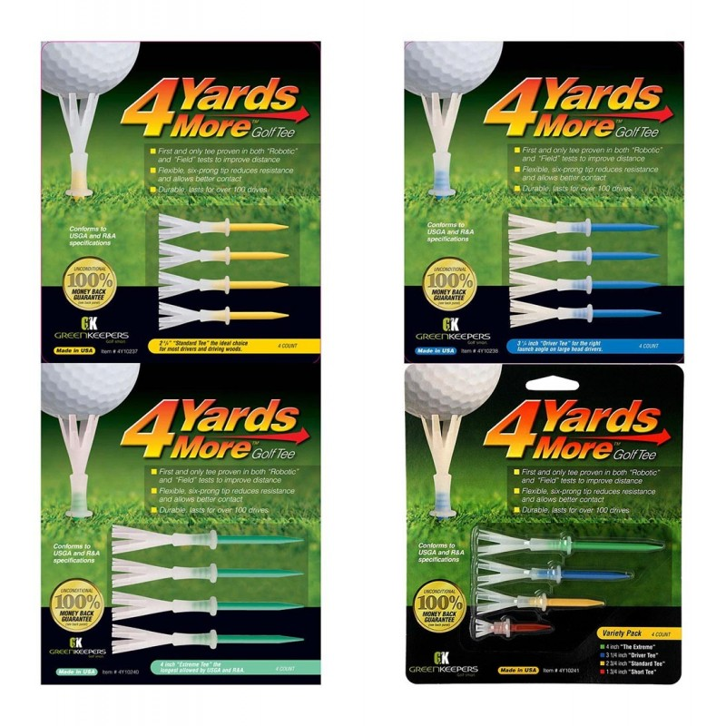 Green Keepers 4 Yards More Golf Tees